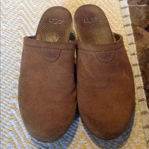 UGG suede clogs; very worn; kids size 5